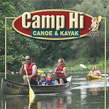 Camp Hi Logo with boaters