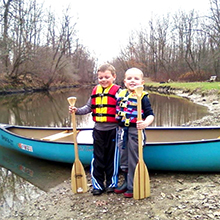 Crooked River Livery Elden Russell park canoe with boys