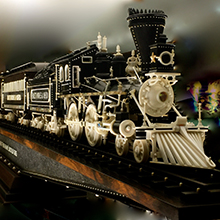 Warther Museum carved train