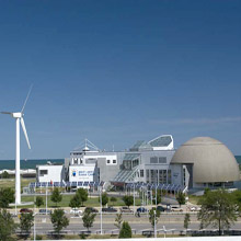 view of Great Lakes Science Center exterior