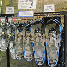 Geauga Park District snowshoe rental is free
