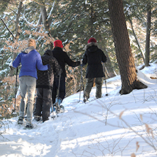 Geauga Park District snow shoeing
