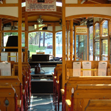 Trolley Tours trolley interior