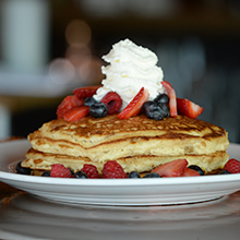 Burntwood Tavern Pancakes with berries