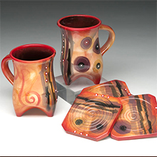 Zeber-Martell mugs and coasters